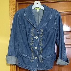 Denim jacket, embellished  Bundle 3/$20